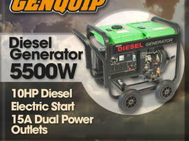 GENQUIP DG6LE DIESEL 5500W GENERATOR ELECTRIC STAR - picture0' - Click to enlarge