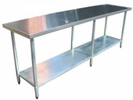 Brayco 2496 Flat Top Stainless Steel Bench (610mmW - picture0' - Click to enlarge