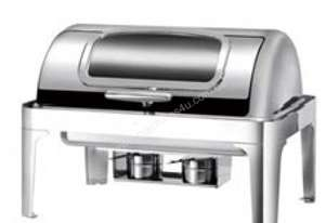 LUXURY/STEEL BAIN MARIE ROLL-TOP CHAFER WINDOW