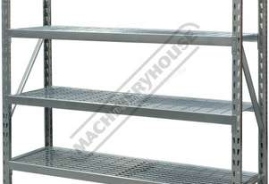 RSS-4WS Industrial Racking Steel Shelving 364kg Shelf Load Capacity 1955 x 610 x 1830mm