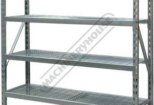 RSS-4WS Industrial Steel Shelving 364kg Shelf Load Capacity 1955 x 610 x 1830mm