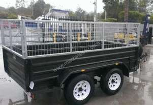 mcneilltrailers 9*5 tandem highside with cage