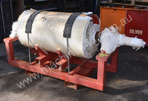 rubber covered conveyor roller and bearings 650mm