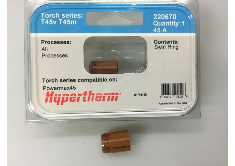 NEW HYPERTHERM 45A SWIRL RING  # 220670