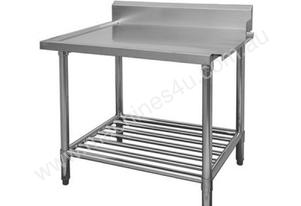 F.E.D. WBBD7-2400R/A All Stainless Steel Dishwasher Bench Right Outlet
