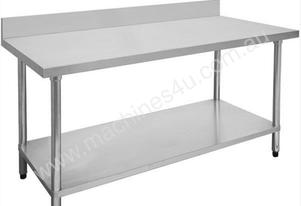 F.E.D. 1500-6-WBB Economic 304 Grade Stainless Steel Table with splashback 1500x600x900