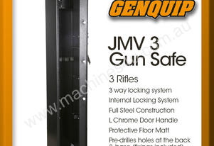 JMV 3 Gun Safe Rifle Firearm Storage Lock Box