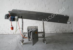 Stainless Steel Motorised Conveyor - 1.6m long