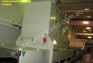 Continuous steel band belt oven