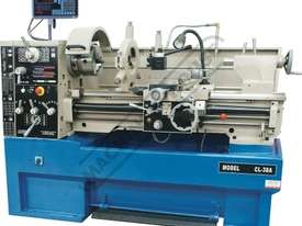 CL-38A Centre Lathe 410 x 1000mm Turning Capacity - 52mm Spindle Bore Includes Digital Readout & Qui - picture0' - Click to enlarge