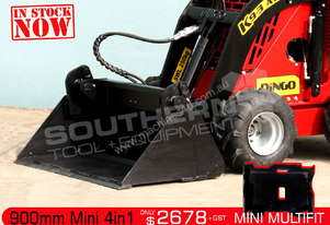 900 mm Mini 4 in 1 Bucket Suit Dingo Kanga ATT4IN1