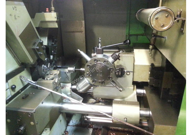 Mupem 6 Axis Automatic lathe with Polygon attachment and barfeeder