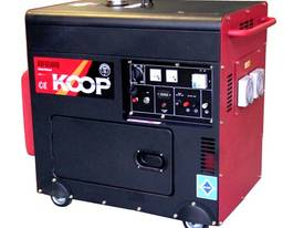 5.0KVA Silent Diesel Generator 240V Large Tank 30L - picture0' - Click to enlarge