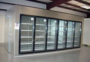 Cooling room with displaying fridge