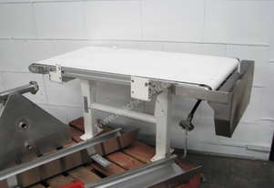 Motorised Belt Feeder Conveyor with Stainless Steel Guards - 1.2m long