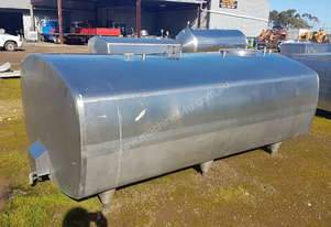 STAINLESS STEEL TANK, MILK VAT 3100 LT