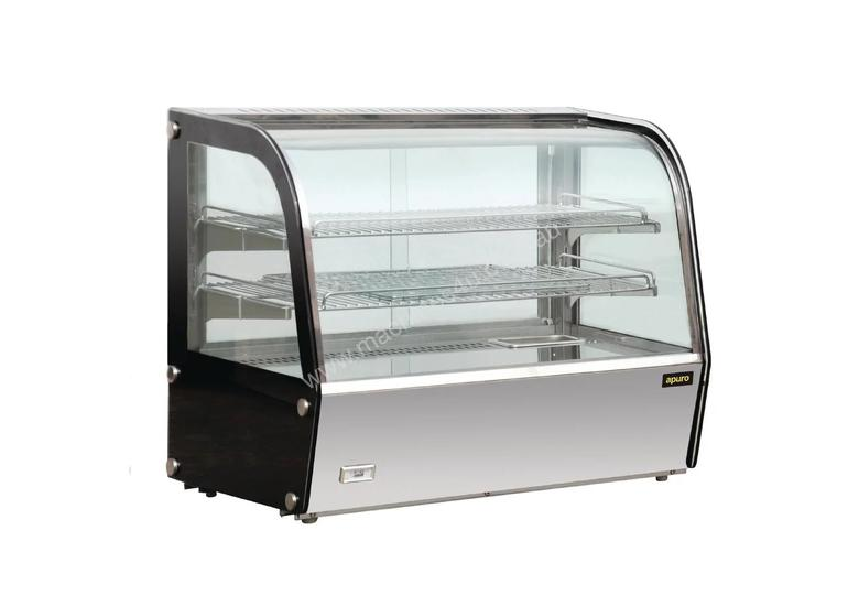 Apuro GC876-A - Heated Countertop Display Cabinet 120Ltr