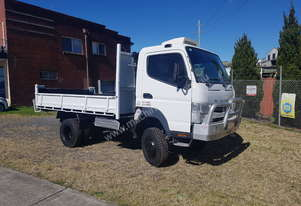 Fuso Canter 4x4 Tipper with Crane