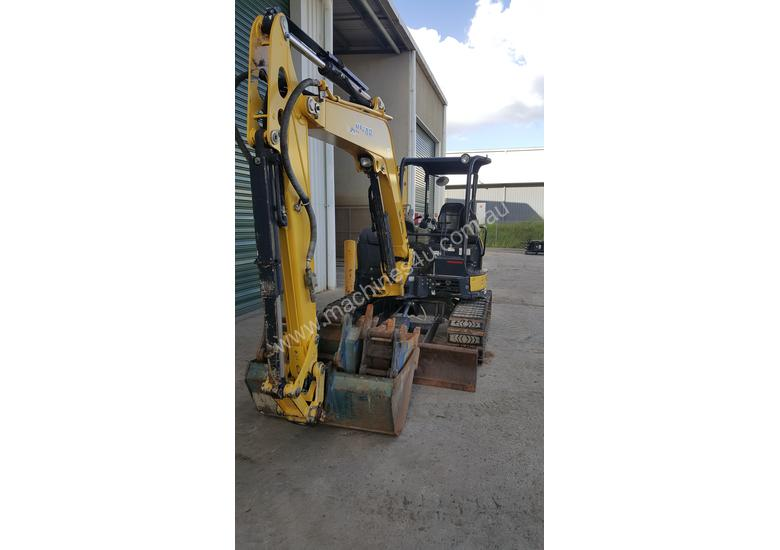 Used Yanmar VIO55-6B Open Cab Excavator, With Full Set of Buckets, Quick Hitch, Steel Tracks & Bolt