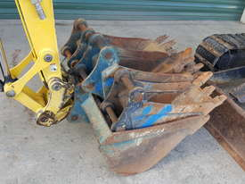 Used Yanmar VIO55-6B Open Cab Excavator, With Full Set of Buckets, Quick Hitch, Steel Tracks & Bolt  - picture11' - Click to enlarge