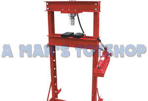 HYDRAULIC FLOOR PRESS 20 TON W/ GAUGE