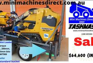 Mini Skid Steer Loader. ML50T Tracked. 50hp Kubota Diesel Engine. + Trailer and Attachments DEAL!!