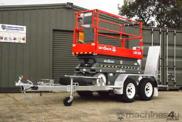 SKYJACK SJIII 3220 ELECTRIC SCISSOR LIFT TRAILER PACKAGE