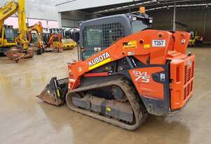 KUBOTA SVL75 WITH WIDE TRACKS AND LOW 385 HOURS