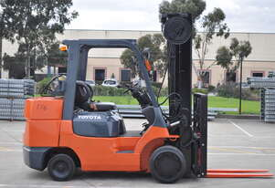 Toyota  4.5 Ton Forklift with 5 meter reach and fork positioner
