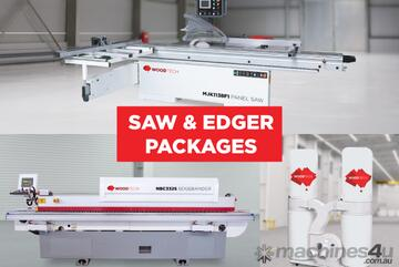Edgebander, Panel Saw and Dust Extraction Package with delivery, installation