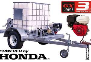 12HP Honda Trailer Pressure Cleaner – RENTAL SPEC