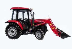 YTO554 55hp 4wd aircab fel with 4 in 1 bucket