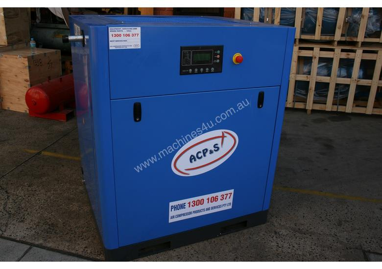 German Rotary Screw - Variable Speed Drive 30hp / 22kW Rotary Screw Air Compressor... Power Savings
