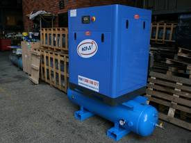 German Rotary Screw - 15hp / 11kW Rotary Screw Air Compressor with Air Receiver Tank - picture1' - Click to enlarge