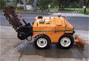 18 hp diesel powered trencher , 2cyl lister , 4 x 4 drive