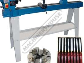 WL-20 Swivel Head Wood Lathe Package with Tooling  370mm Swing x 1100mm Between Centres Includes 100 - picture0' - Click to enlarge