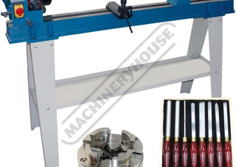 WL-20 Swivel Head Wood Lathe Package with Tooling