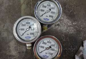 Various Pressure Gauges - Contact for price