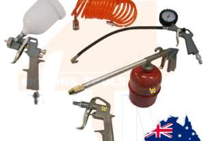 5PC Air Spray Gun Hose Blower Tool Set Kit
