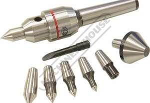 C0625 2MT Live Centre Set - Interchangeable Centring Tips  Taiwanese Precision Quality