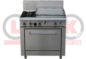 LKKOB6B+O 2 Gas Open Burner Cooktop + Gas Hot Plate + Static Oven