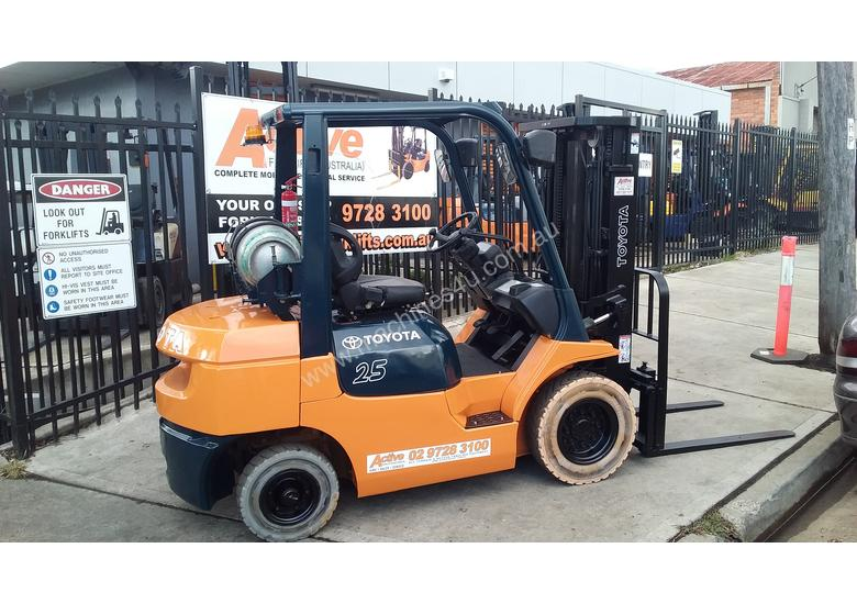 Toyota Forklift 7FG25 Container Mast 4.3m Lift 2.5ton Great Value