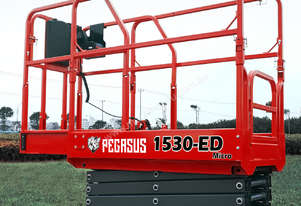 Pegasus 1530 Micro Scissor Lift WITH optional world first Overhead Warning System