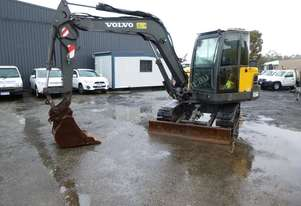 2011 Volvo EC60C 6 Ton Rubber Tracked Excavator with Push Blade IN AUCTION