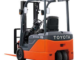 Toyota 1.0 - 2.0 Tonne 8FBE 3-Wheel Battery Forklift - picture0' - Click to enlarge