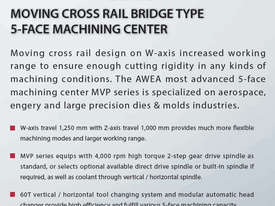 Awea MVP Moving Cross Rail Bridge Type 5 Face Machining Centre - picture3' - Click to enlarge