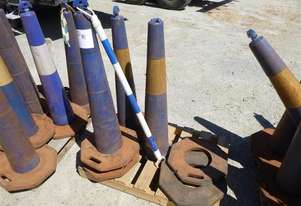 4X Blue Witches Hats 1.1M Tall With Bases