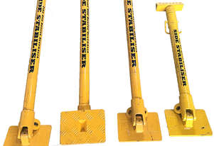 Fire and Rescue Side Stabiliser Props Heavy Duty 750kg Capacity Set of 4