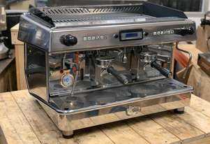 ROYAL VALLELUNGA 2 GROUP HIGH CUP STAINLESS ESPRESSO COFFEE MACHINE