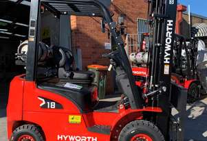 Hyworth 1.8T Gas Forklift for HIRE from $180pw + GST